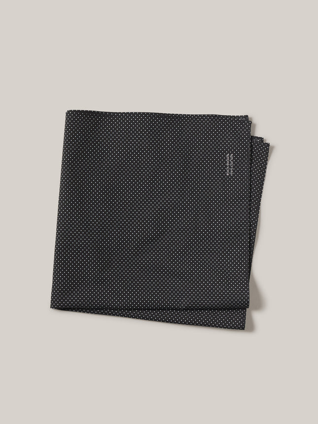 Black Farmed Cotton Bandana