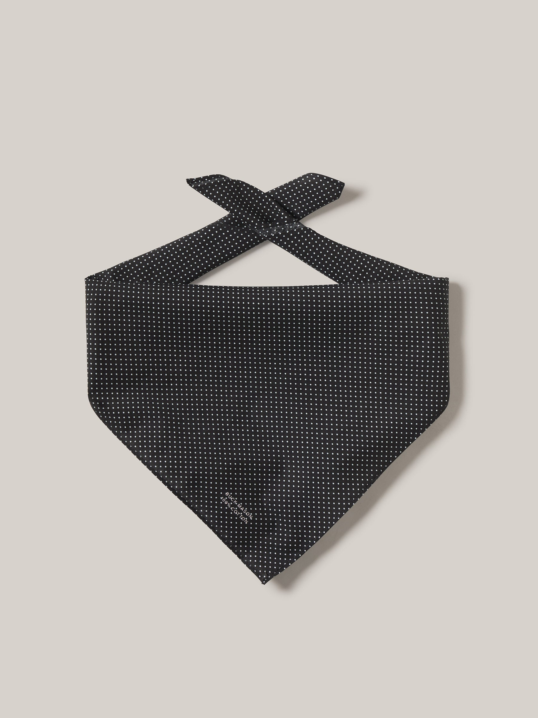 Buck Mason - Black Farmed Cotton Bandana