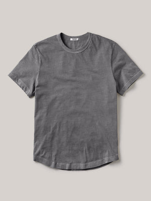 Bishop Venice Wash Pima Curved Hem Tee