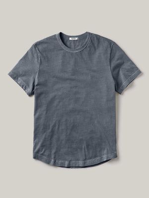 Deep Sea Venice Wash Pima Curved Hem Tee