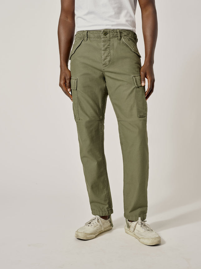 Faded Army Stone Twill Desert Cargo Pant