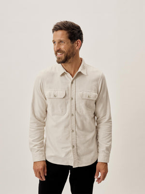 Sleet Brushed Flannel Two Pocket Shirt