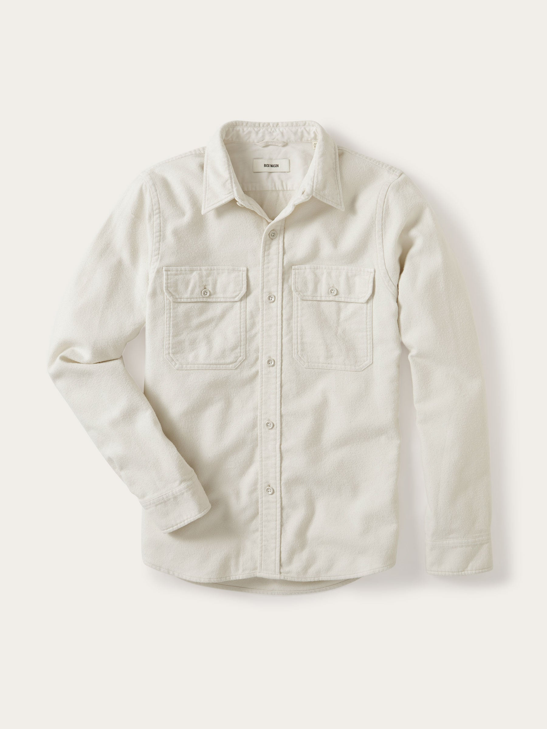 Buck Mason - Sleet Brushed Flannel Two Pocket Shirt