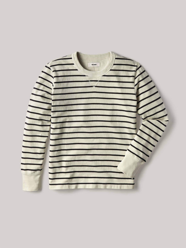Natural/Black Striped Field-Spec Cotton Surplus Crew