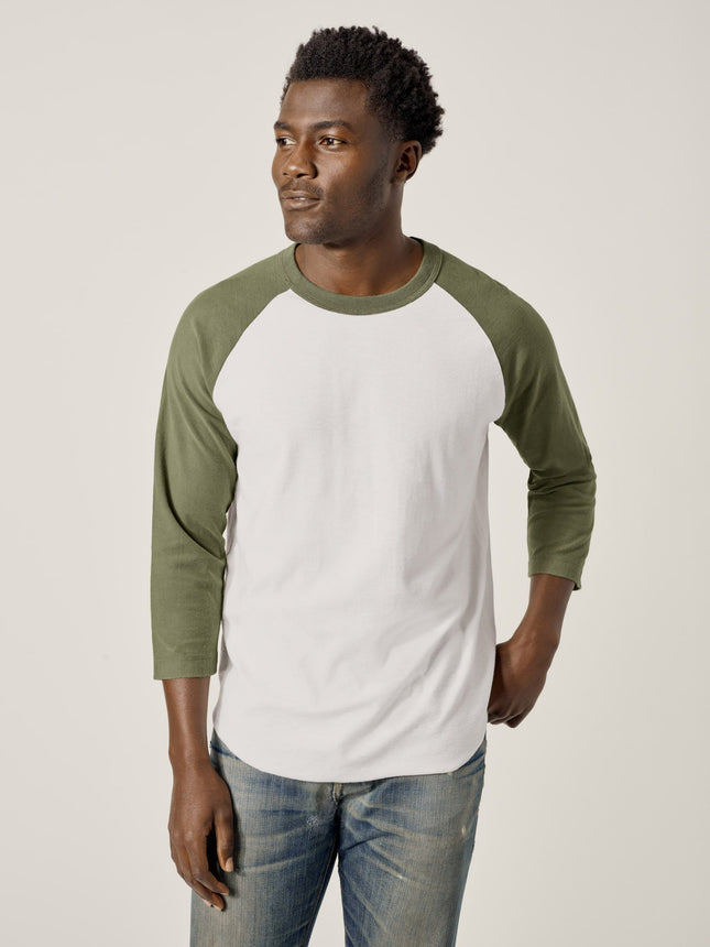 Buck Mason - Olive Vintage Sueded Cotton Baseball Tee