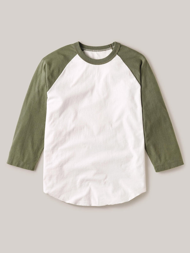 Olive Vintage Sueded Cotton Baseball Tee
