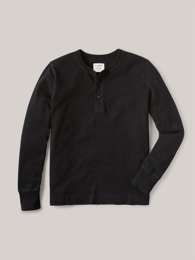 Black Field-Spec Cotton Surplus Henley
