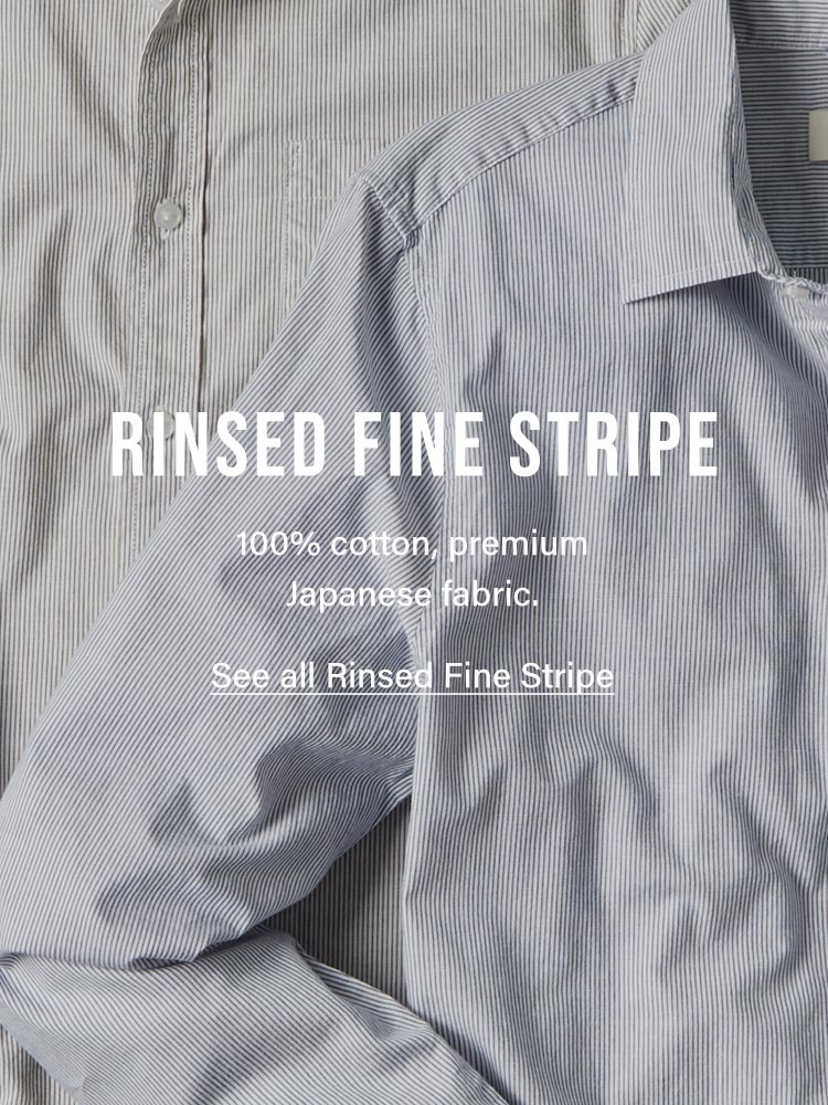 Buck Mason - Product Info - Rinsed Fine Stripe
