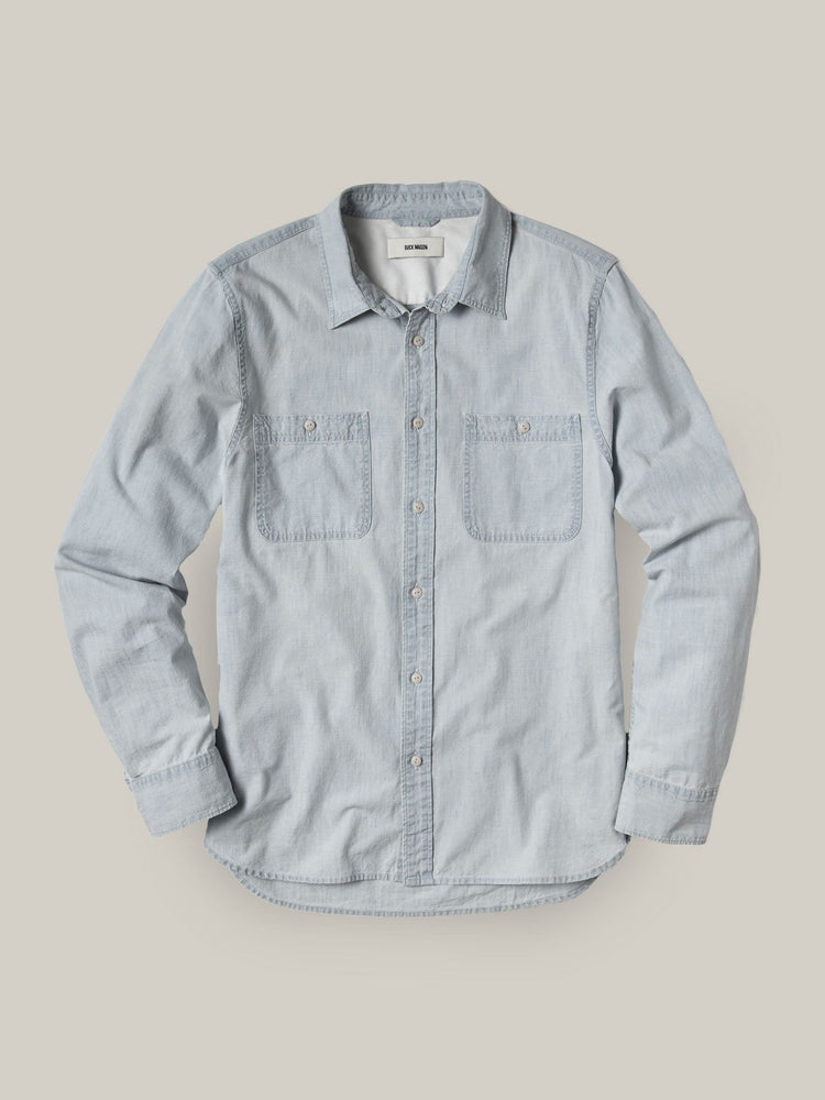 L005 Light Wash Chambray Work Shirt
