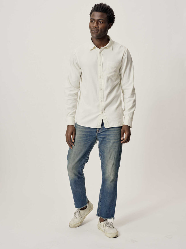 Buck Mason - Natural Draped Twill One Pocket Shirt