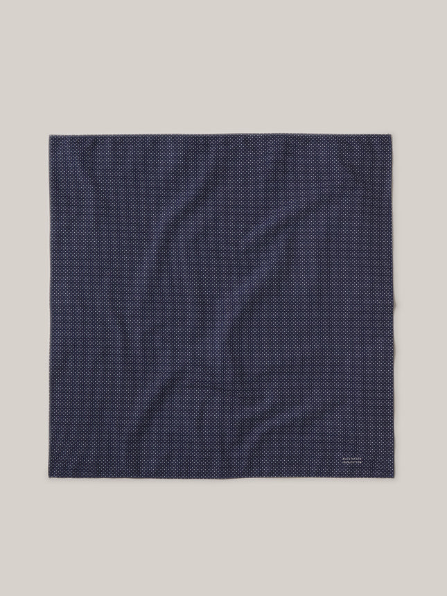 Navy Farmed Cotton Bandana