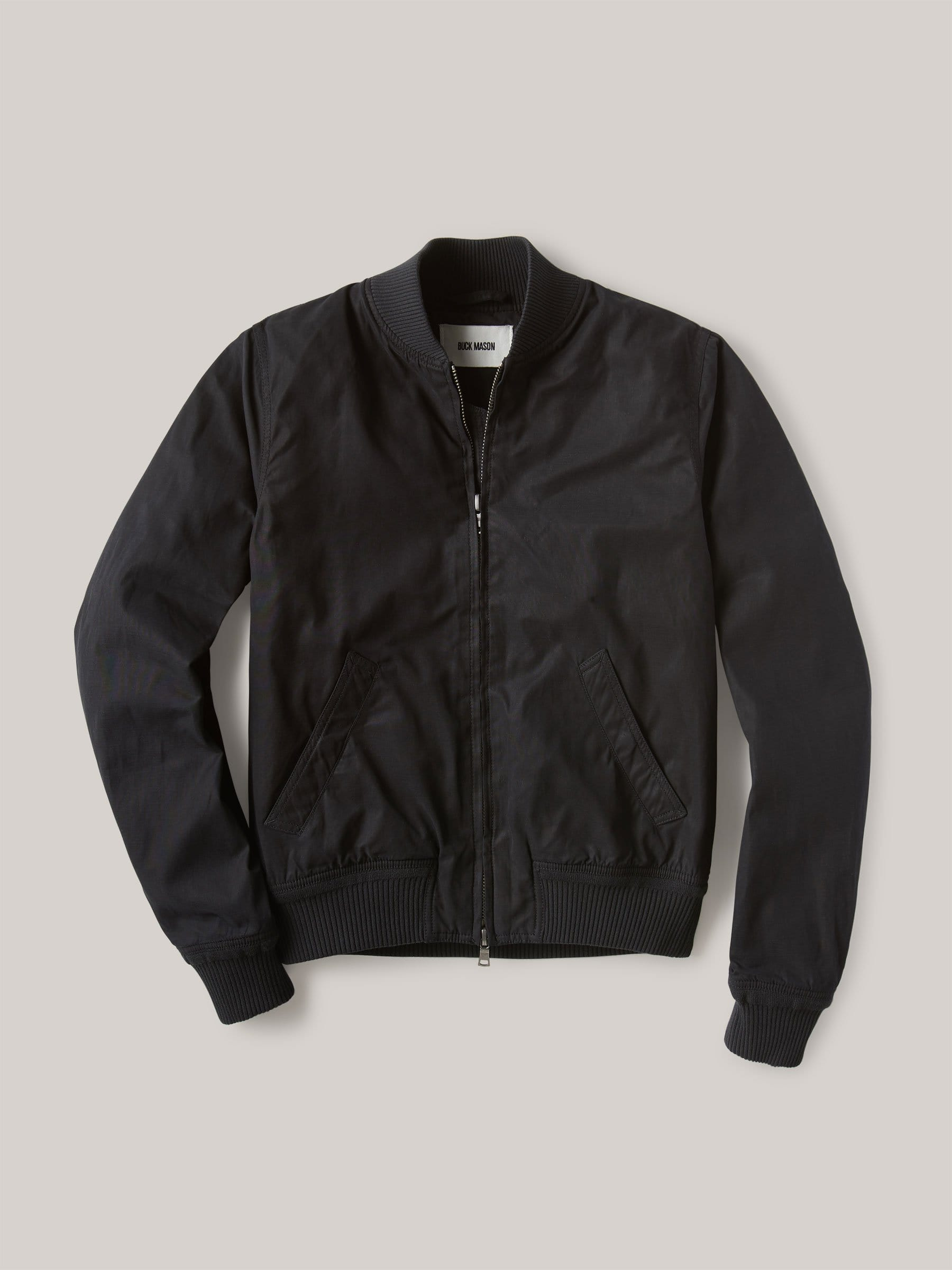 Buck Mason - Black Oil Cloth Bomber