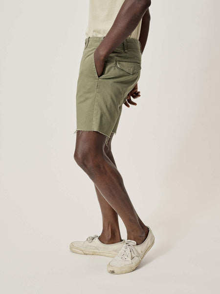 Palm Slub Twill Raw Hem Officer Short