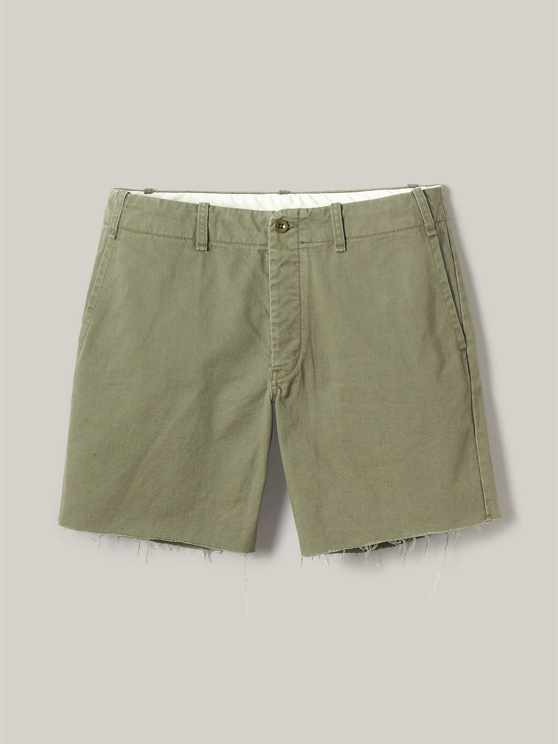 Buck Mason - Palm Slub Twill Raw Hem Officer Short
