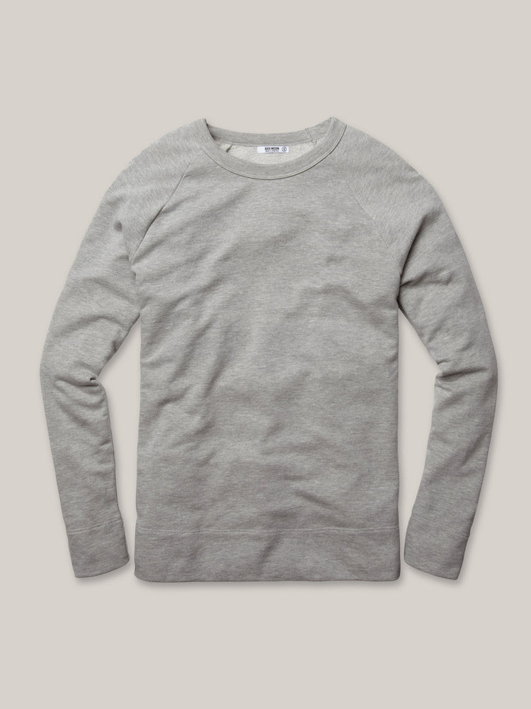 Heather Grey Vintage French Terry Raglan Sweatshirt