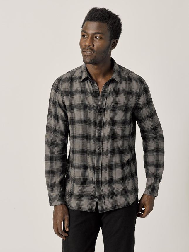 Carbon/Black High Desert Flannel Vintage One Pocket Shirt