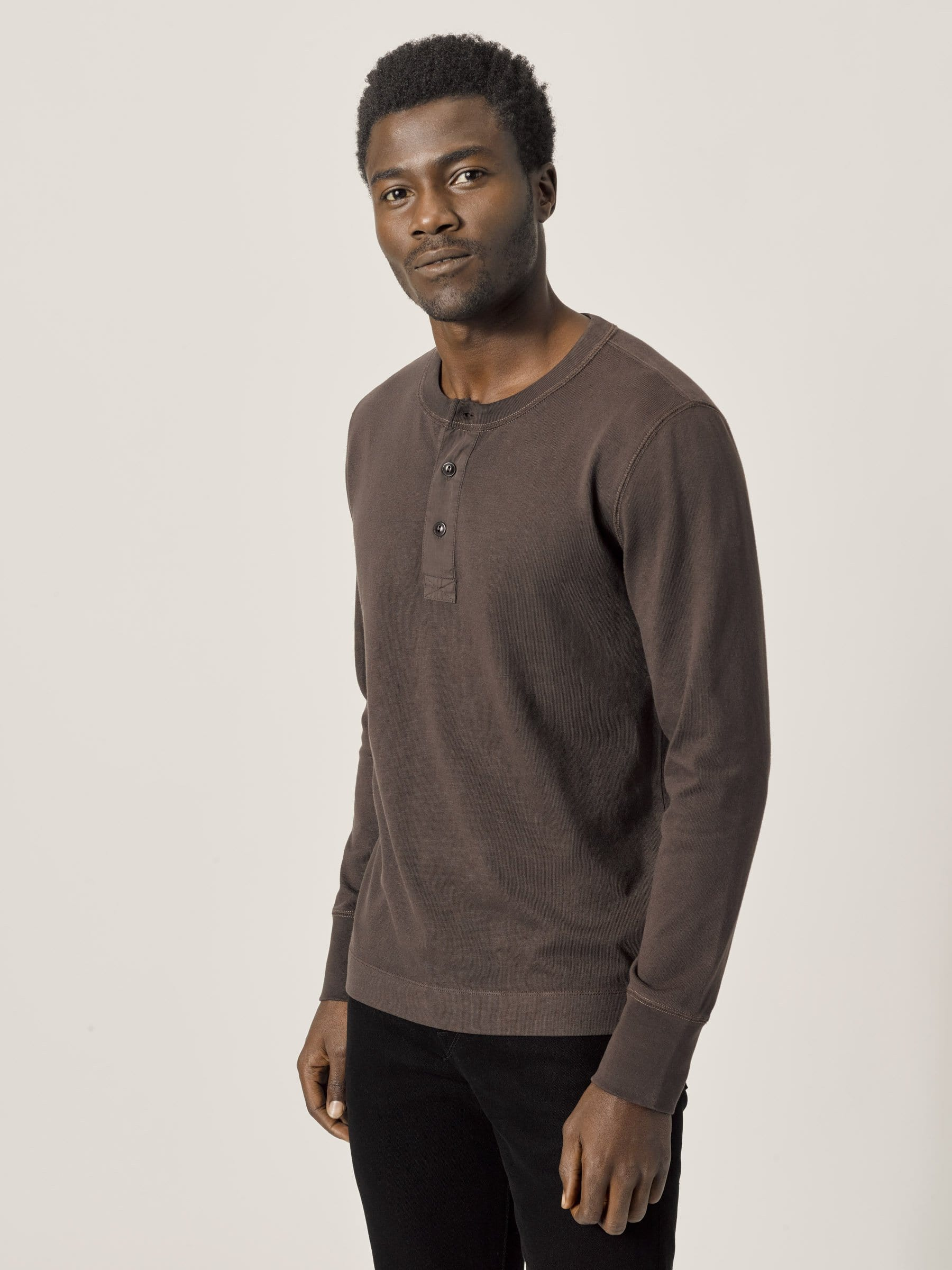 Buck Mason - Clove Venice Wash Field-Spec Cotton Surplus Henley
