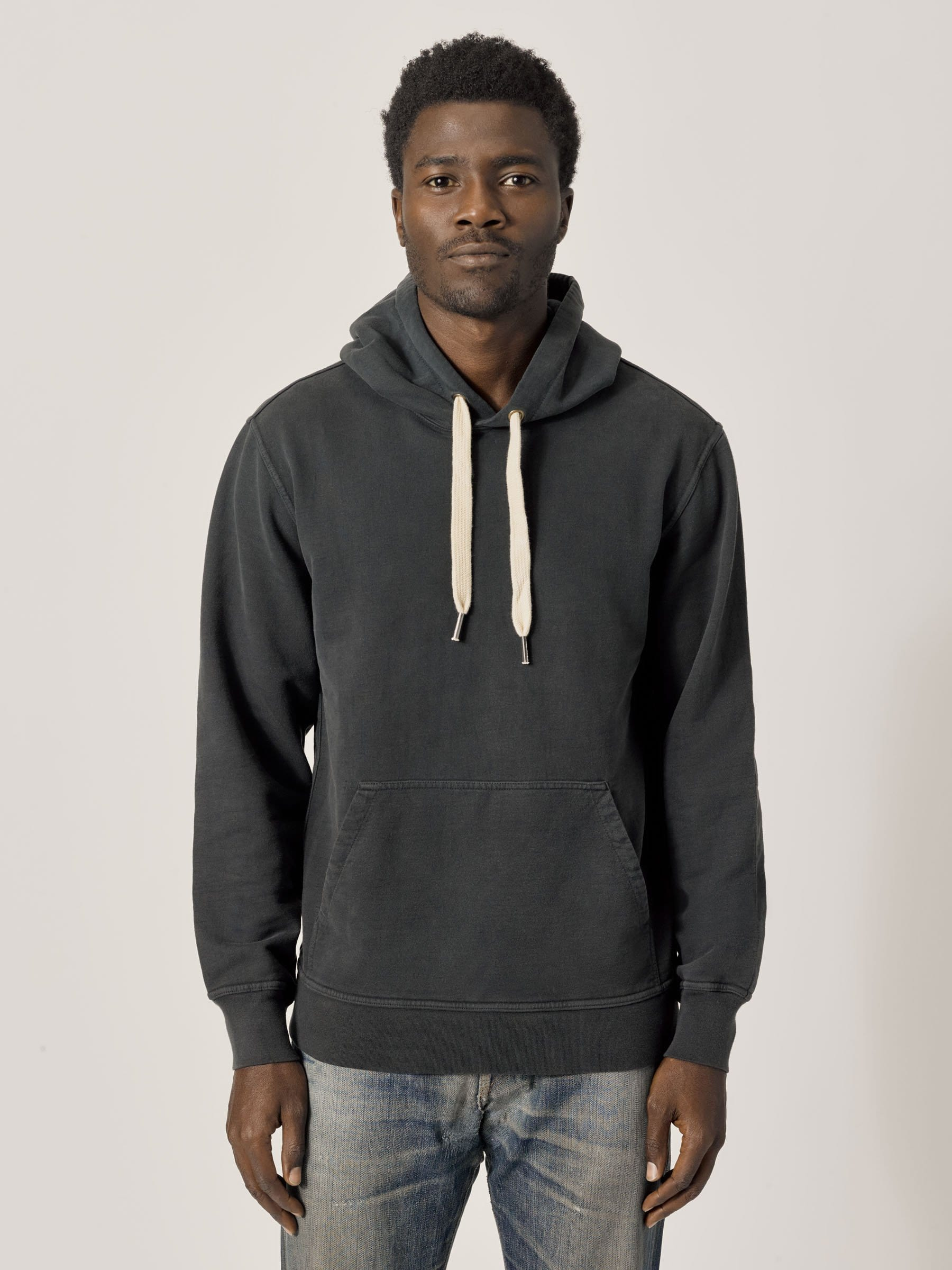 Buck Mason - Dark Navy Venice Wash Brushed Loopback Hooded Sweatshirt