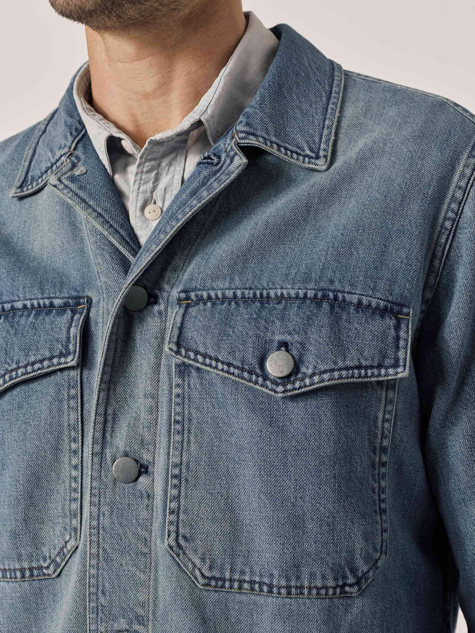 Buck Mason - L004 Light Wash Denim Two Pocket Field Shirt