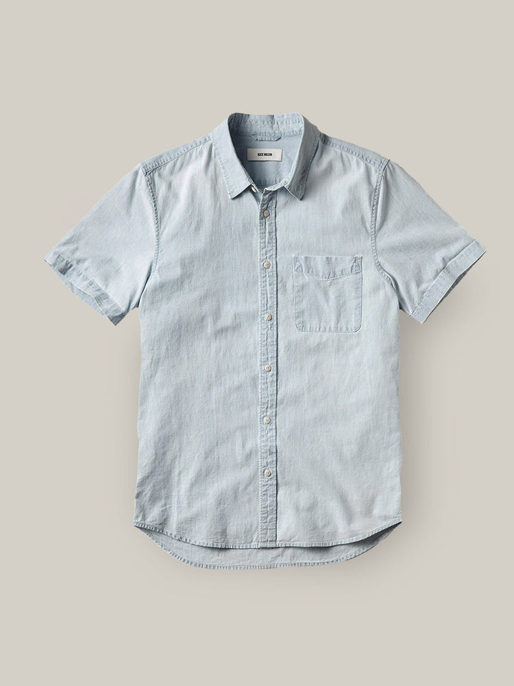 L005 Light Wash Chambray SS One Pocket Shirt