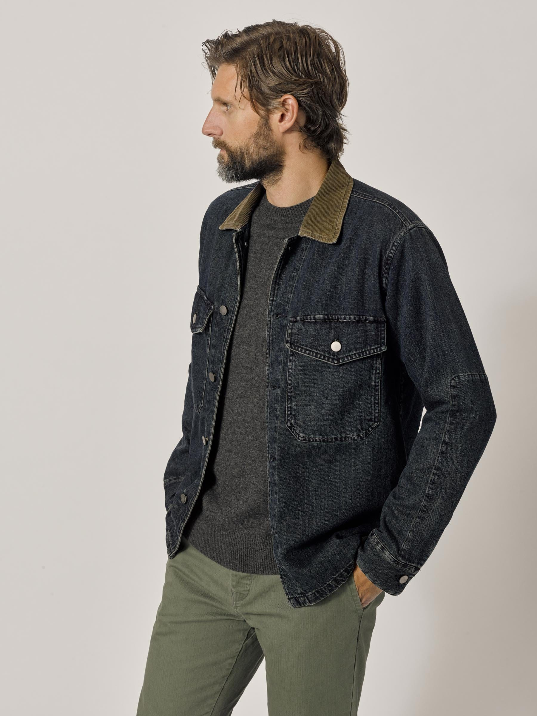 Buck Mason - M007 Medium Wash Denim Two Pocket Field Shirt