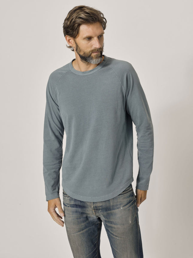 Admiral Venice Wash Sueded Cotton Long Sleeve Raglan Tee