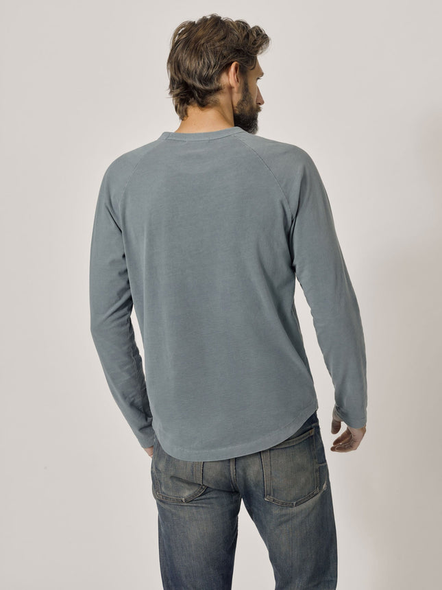 Buck Mason - Admiral Venice Wash Sueded Cotton Long Sleeve Raglan Tee