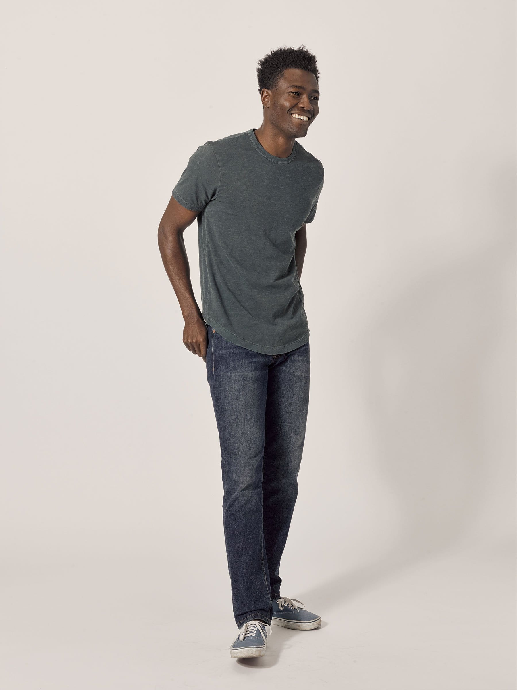 Buck Mason - Atlantic Slub Curved Hem Tee