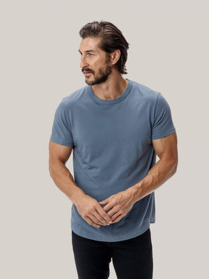 baltic Pima Tall Curved Hem Tee