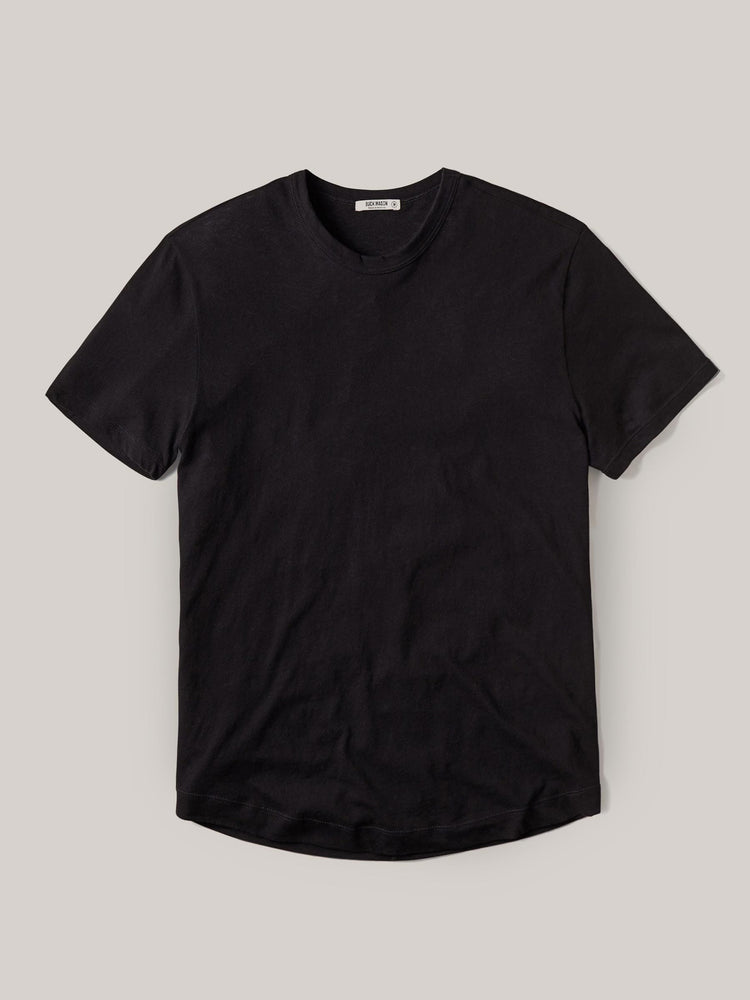 Black Costa Curved Hem Tee