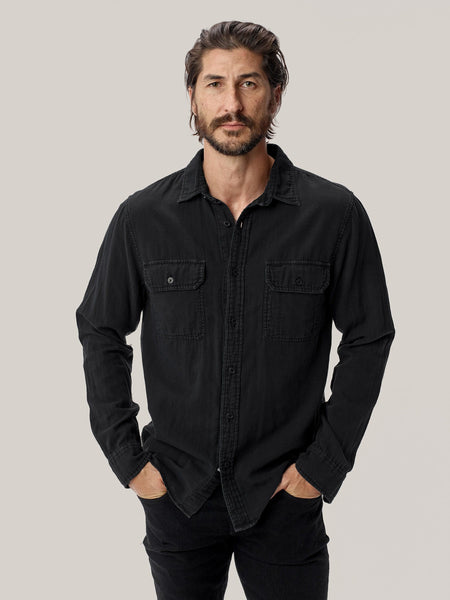 Buck Mason - Black Double Weave Vintage Two Pocket Shirt