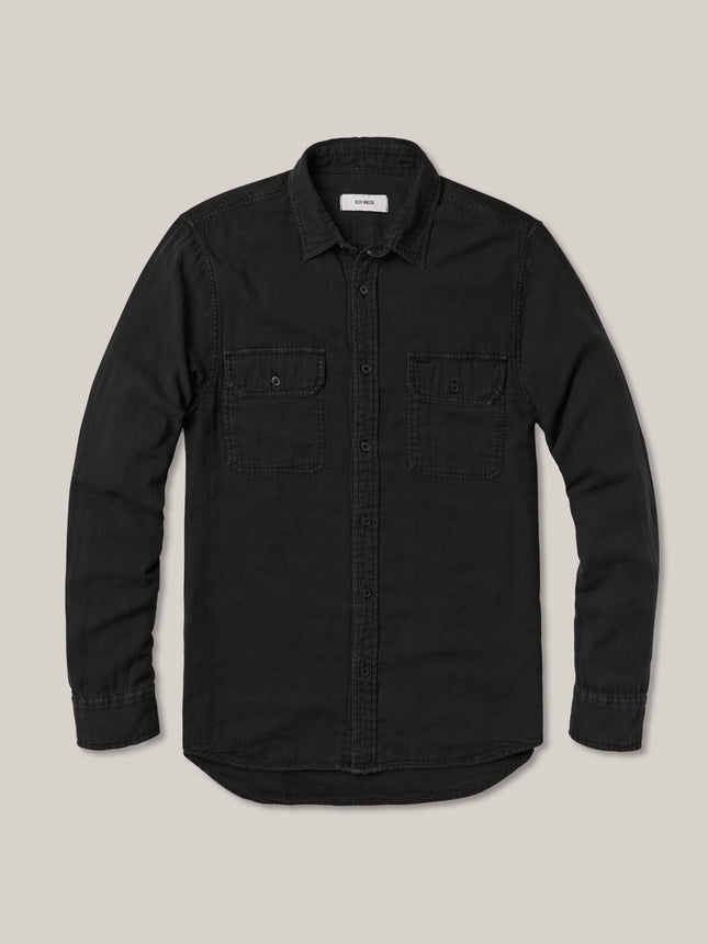 Black Double Weave Vintage Two Pocket Shirt