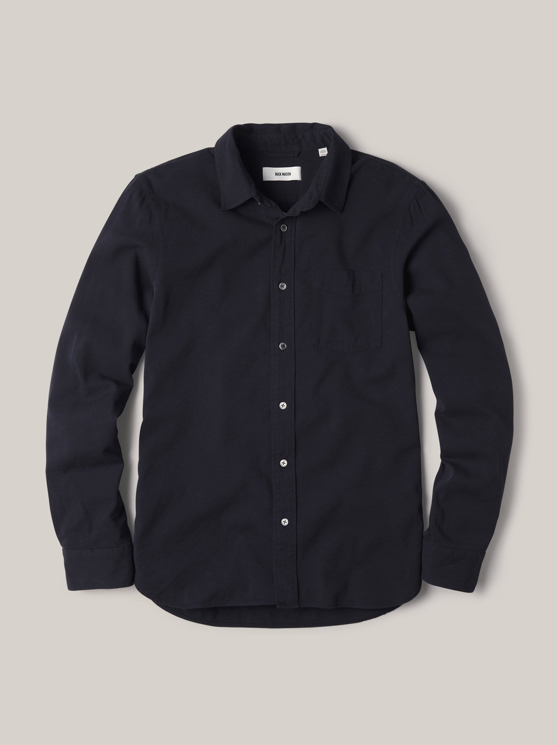 Buck Mason - Black Draped Twill One Pocket Shirt