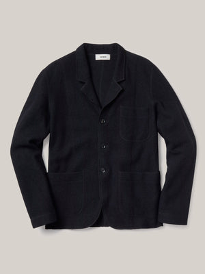 black Felted Chore Coat