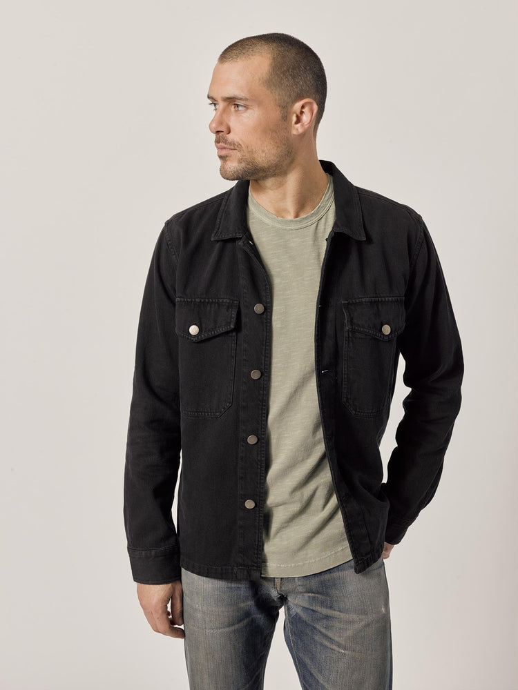 B001 Black Denim Two Pocket Field Shirt