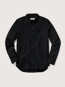 Black Perfect Oxford One Pocket Shirt
