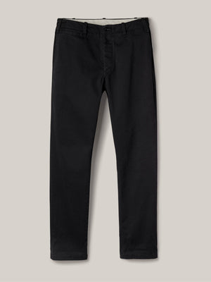 black Slub Twill Officer Pant
