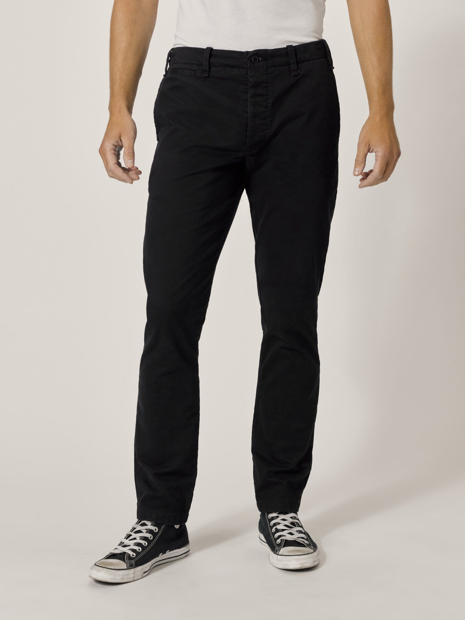 Buck Mason - Black Slub Twill Officer Pant