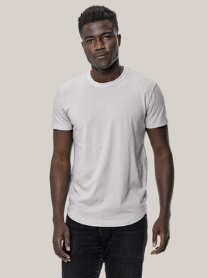 bone venice wash  Pima Curved Hem Tee
