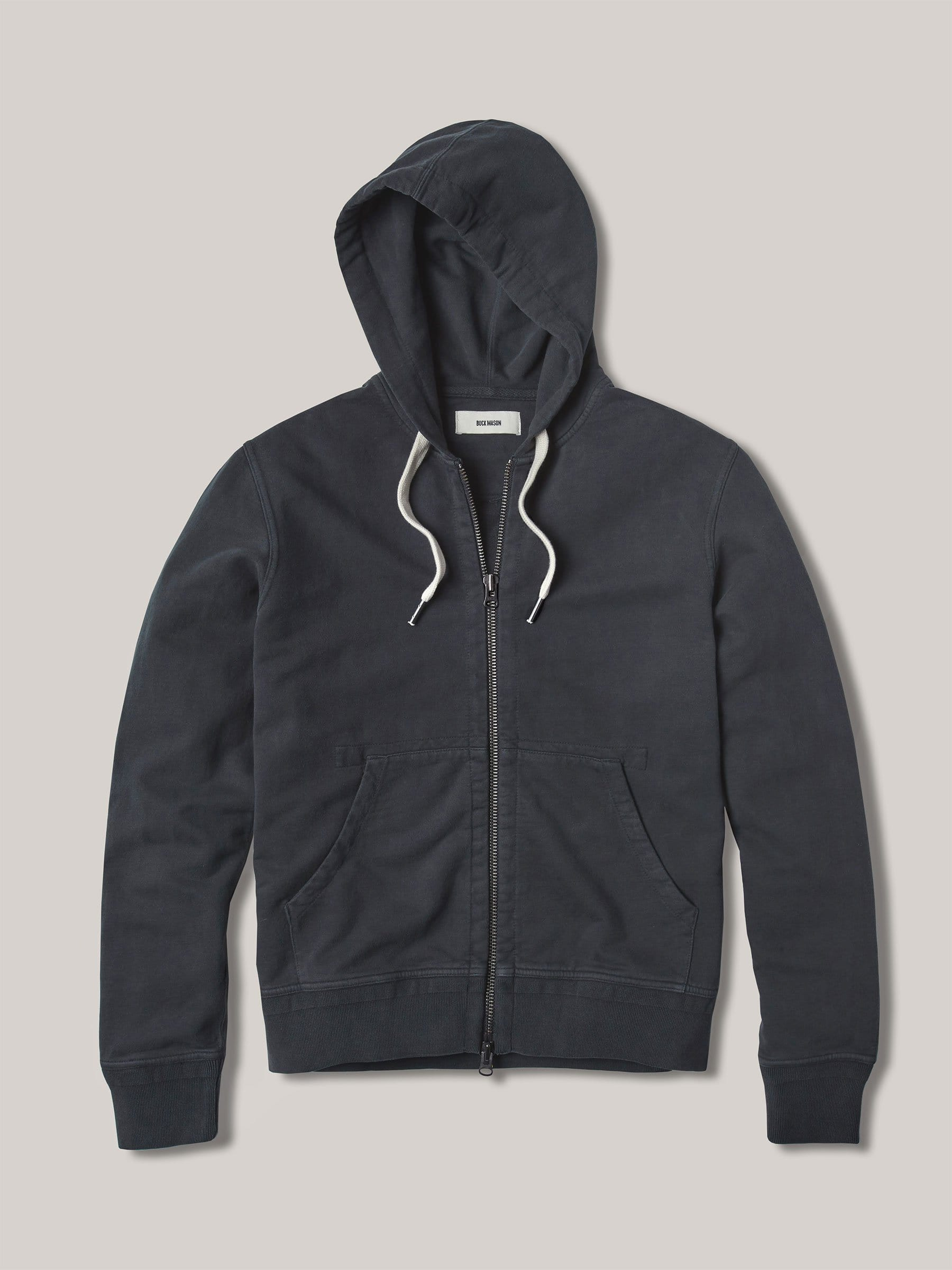 Buck Mason - Dark Navy Venice Wash Brushed Loopback Full Zip