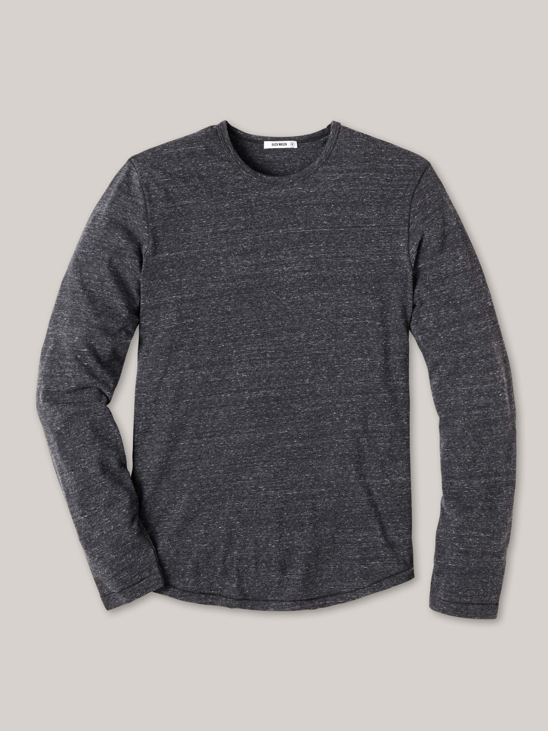 Buck Mason - Charcoal Long Sleeve Vintage Tri-Blend Tee