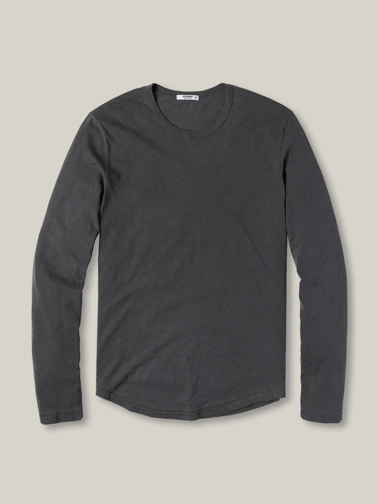 Coal Long Sleeve Slub Curved Hem Tee