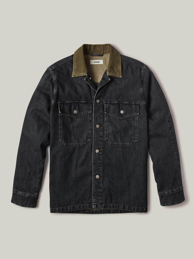 M007 Medium Wash Denim Two Pocket Field Shirt