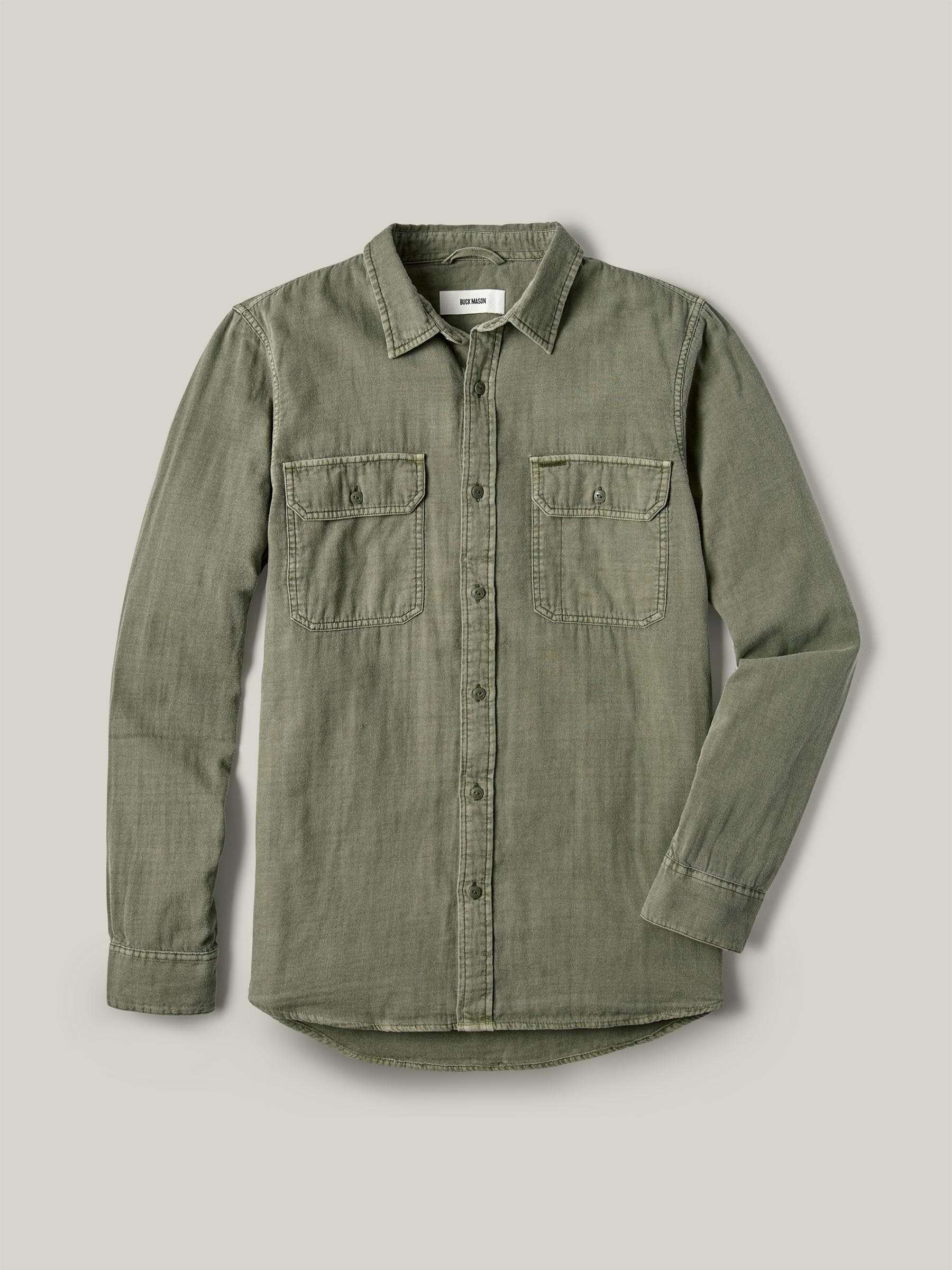 Buck Mason - Faded Army Double Weave Vintage Two Pocket Shirt
