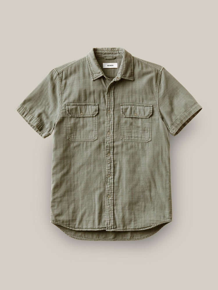 Faded Army Double Weave  S/S Vintage Two Pocket Shirt