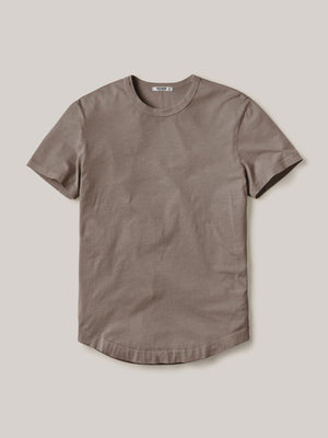Earth Pima Curved Hem Tee