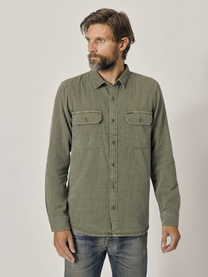 Faded Army Double Weave Vintage Two Pocket