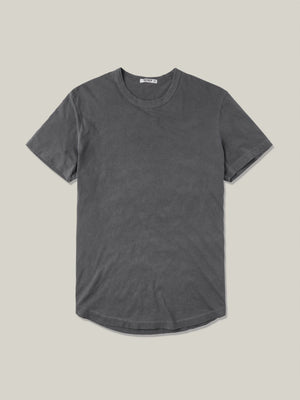 faded black venice wash  Pima Tall Curved Hem Tee
