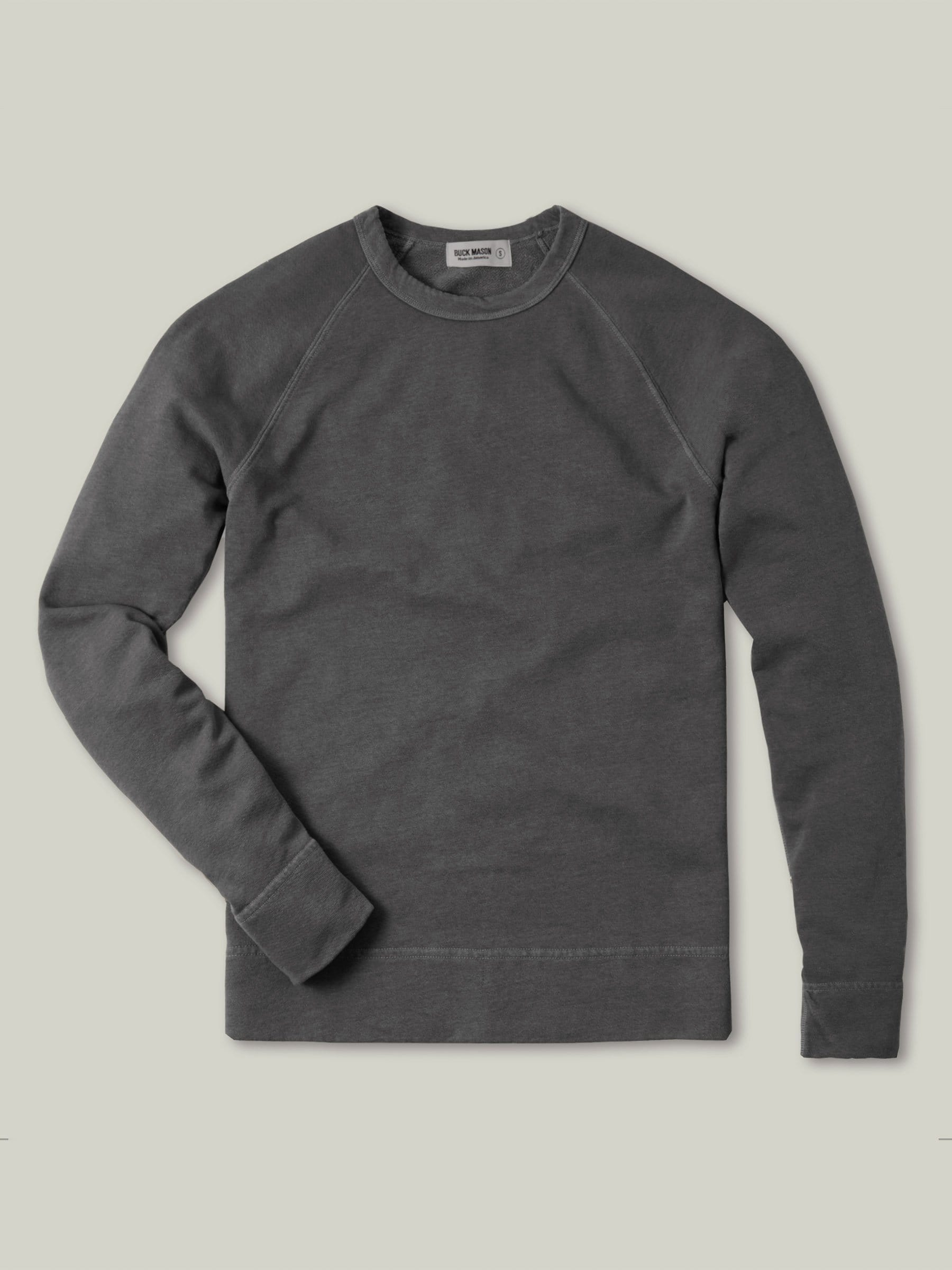 Buck Mason - Faded Black Venice Wash Vintage French Terry Raglan