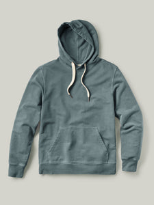 Faded Blue Brushed Loopback Hooded Sweatshirt